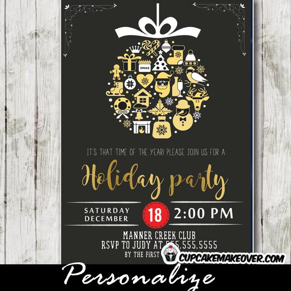 Company Holiday Party Invitations, Vintage Christmas ...