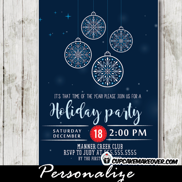 work holiday party invite