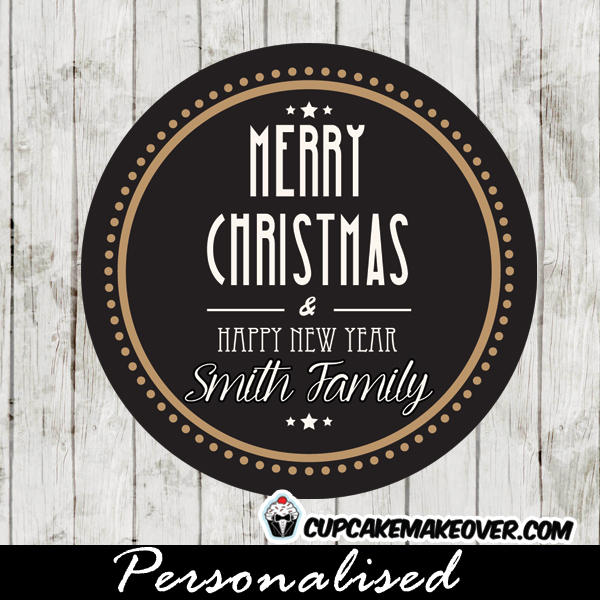 personalized christmas gift tags printable modern black white greetings