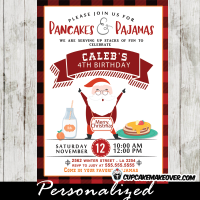 pancakes and pajamas party invitations christmas birthday ideas