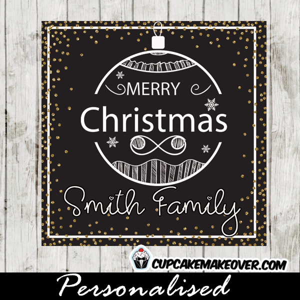 photo regarding Printable Christmas Tags Black and White named Xmas Present Tags Printable, Black and White Hand Drawn Ornament