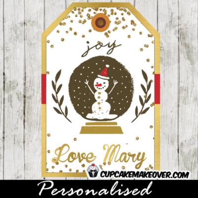 printable christmas gift tags personalized snow globe
