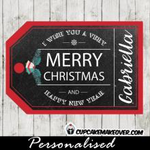 rustic printable christmas gift tags chalkboard