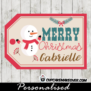 cute snowman printable gift tags merry christmas labels