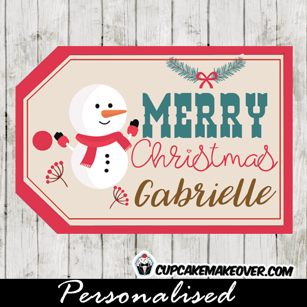 picture regarding Printable Christmas Labels named Printable Xmas Tags, Lovable Minor Snowman