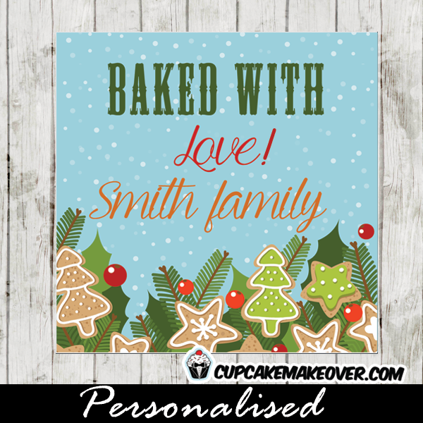 cookie exchange gift tags christmas mistle toe