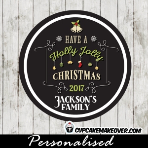 holly jolly christmas cupcake toppers printable gift tags