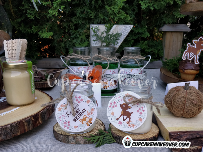 woodland party food ideas vanilla pudding decor