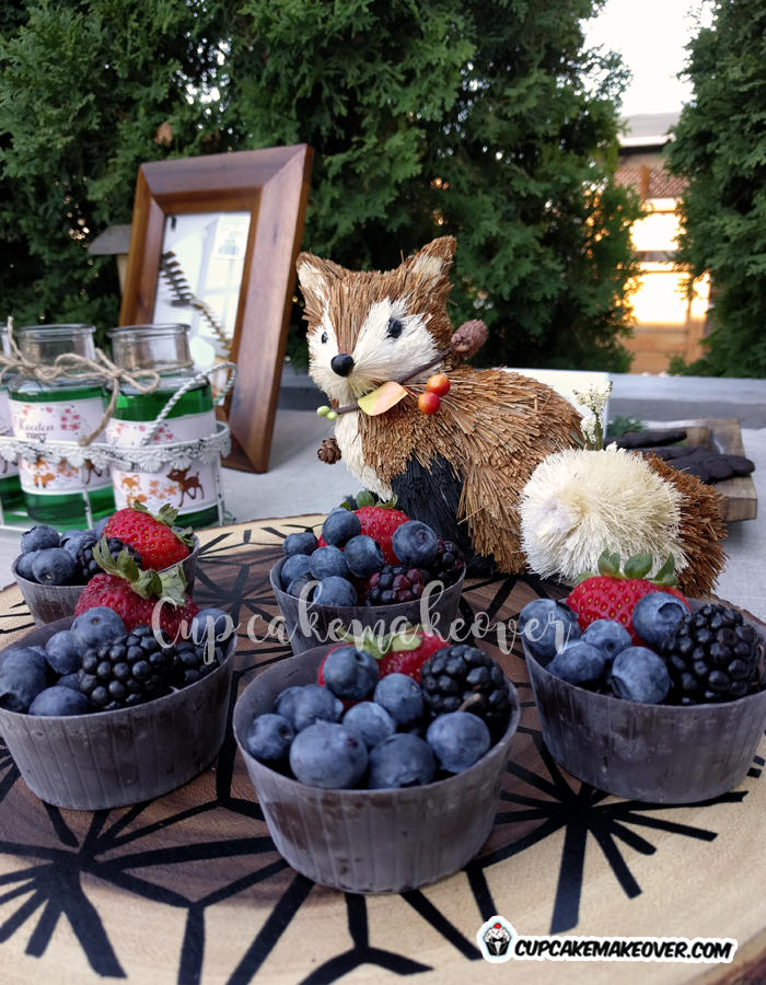 woodland themed party food wild berries