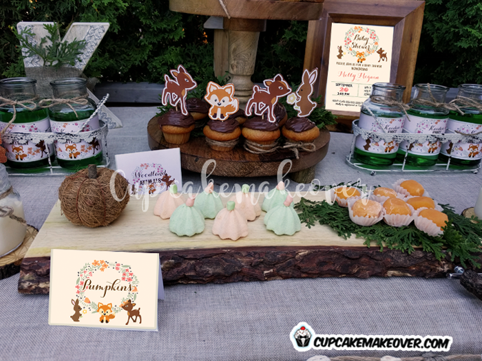 woodland party food pumpkin sweets