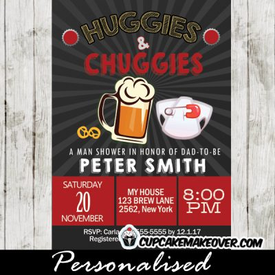 dad huggies and chuggies beer themed baby shower