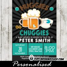 huggies and chuggies beer themed baby shower