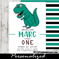 dinosaur birthday invitations first theme party ideas t-rex green lil dino