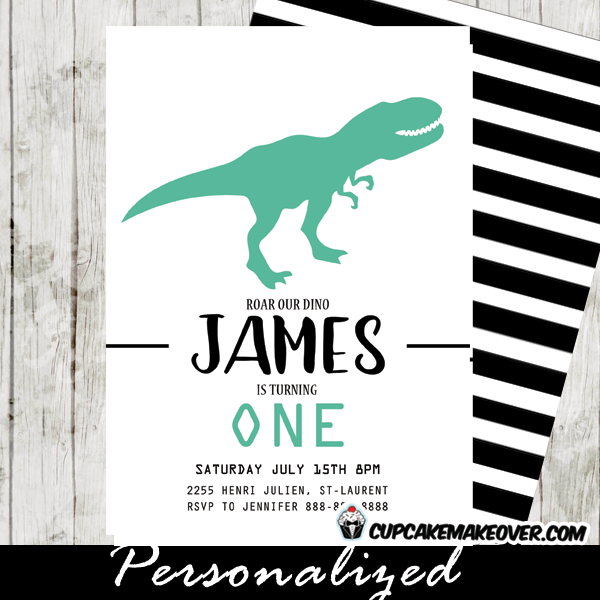 Dinosaur Birthday Invitations First Theme Party Ideas T Rex