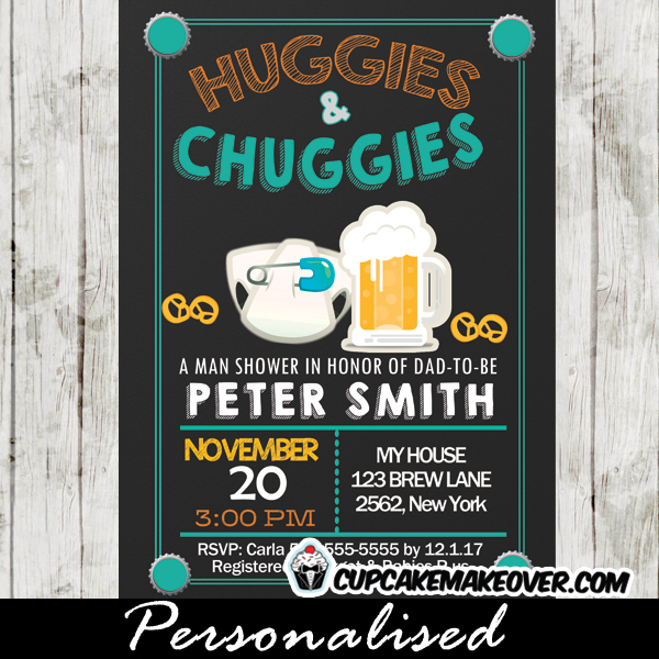 huggies and chuggies party  diapers and beer baby shower