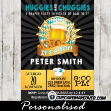 dad huggies and chuggies beer themed baby shower for dad invitations