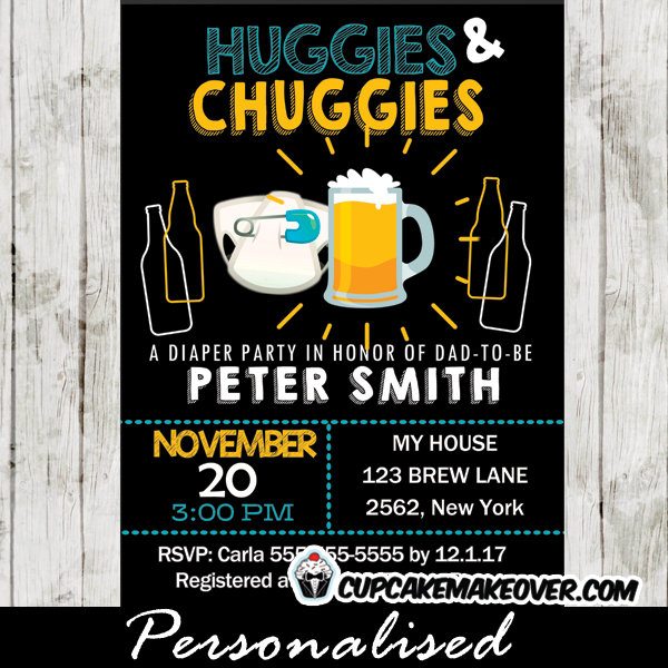 Huggies And Chuggies Invitations Bottles And Beer Baby