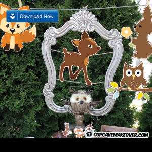 Woodland forest animal cutouts fox bunny deer owl
