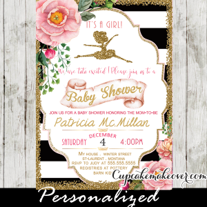 ballerina baby shower invitations ballerina theme ideas little girl dancing ballet