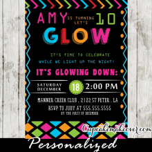 glow in the dark dance party ideas pink blue neon girls kids birthday night
