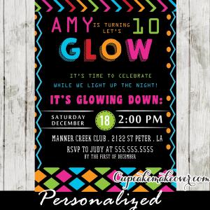 glow in the dark dance party ideas pink blue neon girls kids birthday night