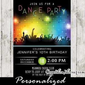 kids dance party invitations girls sweet 16 ideas bokeh lights