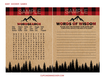 buffalo plaid lumberjack game word search baby words of wisdom