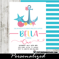 nautical party invitations first birthday supplies anchor decorations ideas