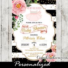 tutu cute baby shower invitations ballerina theme ideas