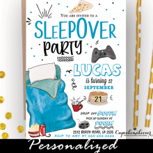 boys sleepover birthday invites slumber party ideas
