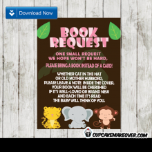 jungle animals pink safari book request invitation request