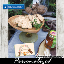 woodland party food ideas forest animals food labels