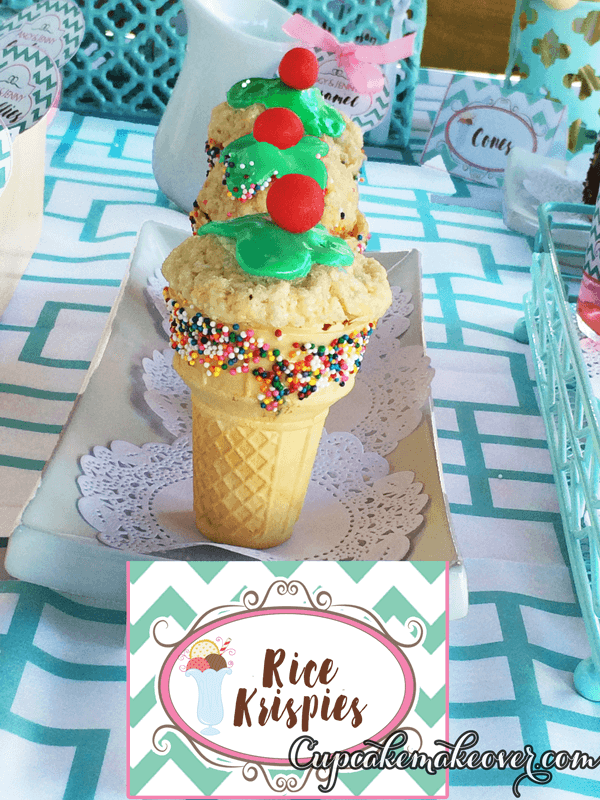 Rice Krispie Treat Ice Cream Cones