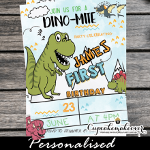 cute dino-mite party invites little dinosaur first birthday invitations 1st one 2nd year old
