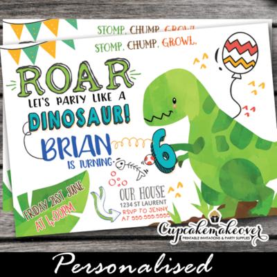cute dino party invites little dinosaur first birthday invitations children 1st 2nd 3rd