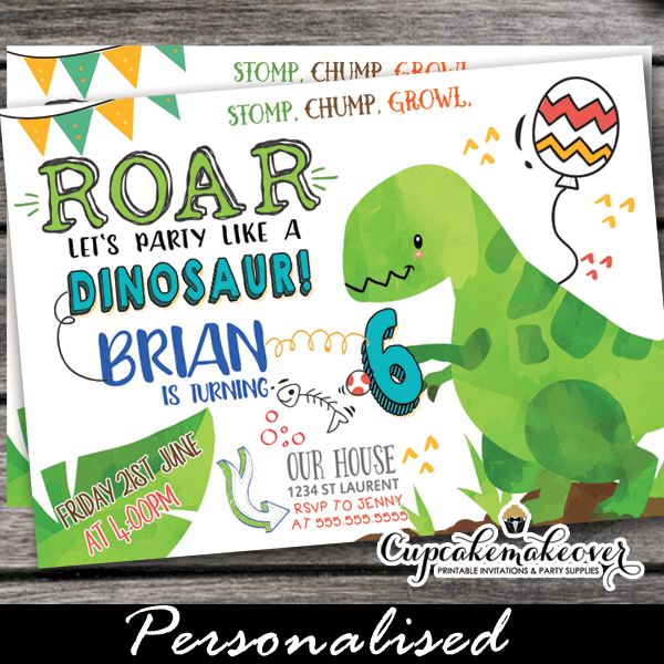 picture about Printable Dinosaur Birthday Invitations called Get together Which include a Dinosaur Birthday Invites
