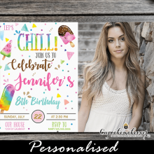 fun popsicle party invitations with photo summer ice cream birthday theme watercolor
