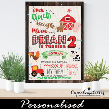 rustic barn wood barnyard farm animals birthday invites