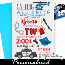 police birthday invitations little policeman party invites ideas diy template