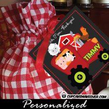 barnyard animals gift labels farm animals red tractor birthday favor tags boys girls decorations