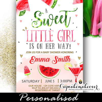watermelon invitations baby shower themes for summer girl