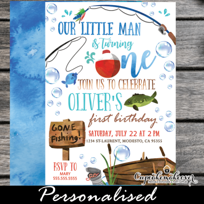 fishing birthday invitations fish theme party boy