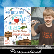 fishing birthday photo invitations fish party theme boys
