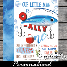 o fish ally one invitations fishing birthday invites boys