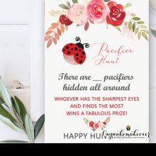 floral rusty roses ladybug baby shower games pink red rose