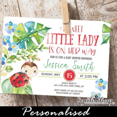 ladybug baby shower invites