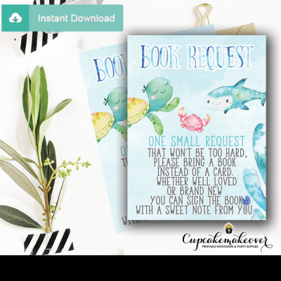 blue ocean under the sea book request cards boys