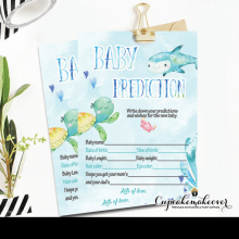 blue ocean under the sea baby shower games boys