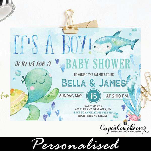 Sea Baby Shower Invites