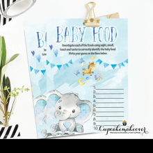 boy blue elephant baby shower games toys theme